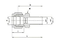 1//4 Tube Brass Cap Fitting Ham-Let 7108LB1//4